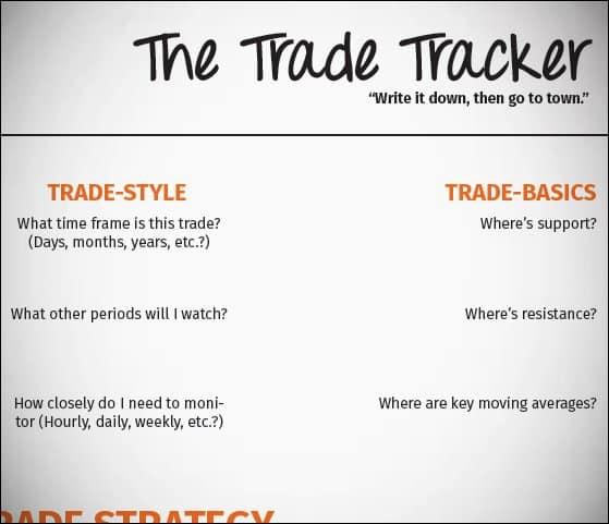 Trade Tracker Screenshot